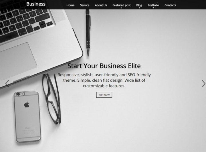 thème de page de destination wp-élite-libre-entreprise