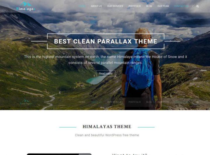 Himalaya-free-wordpress-one-page-theme
