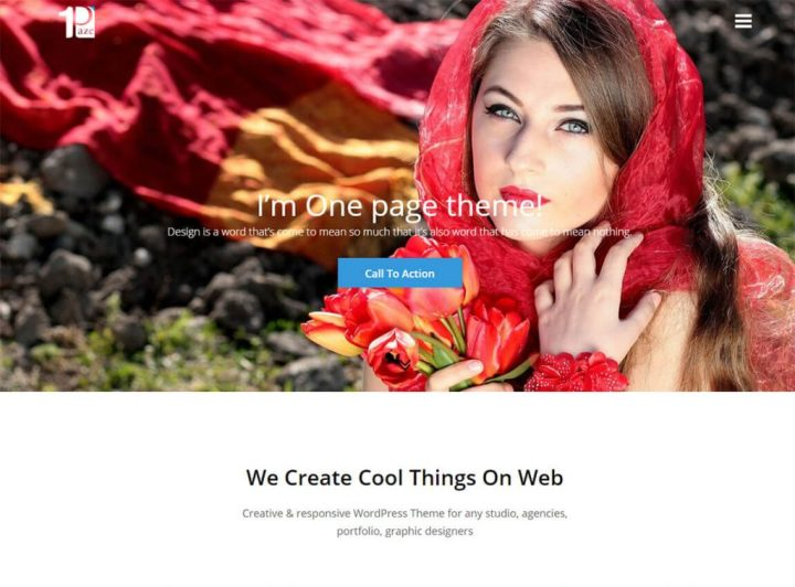 un thème de page de destination wordpress-one-paze-free