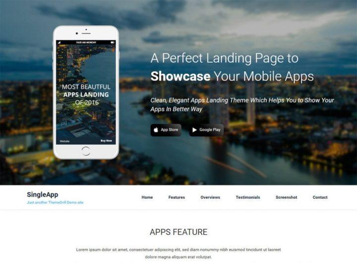 singleapp-free-app-landing-page-wp-theme