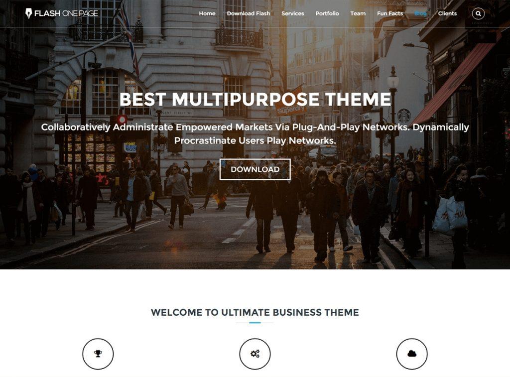 flash-one-page-wordpress-theme