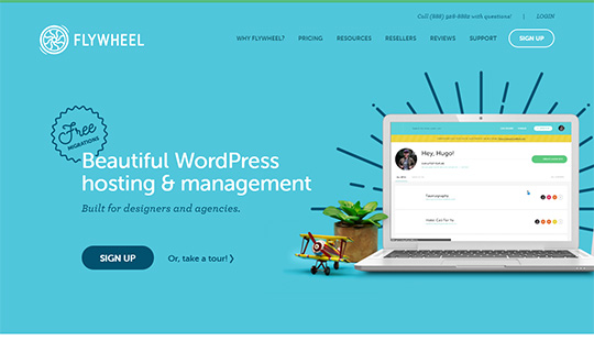 Flywheel Hosting - Hébergement WordPress le mieux géré