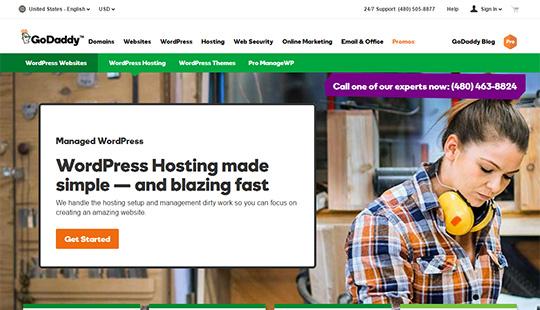 GoDaddy Hosting- meilleur hébergement WordPress