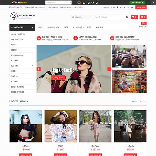 Online Shop WordPress Themes