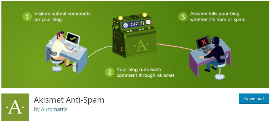 melhores plugins para blogs Akismet