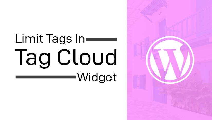 Limit tag cloud