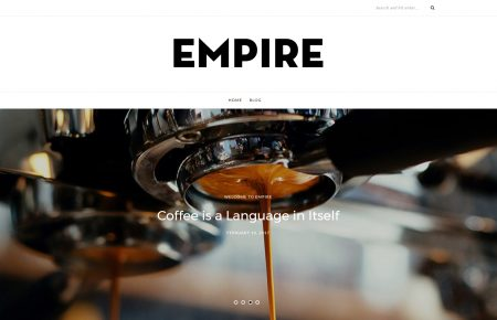 Empire WordPress theme