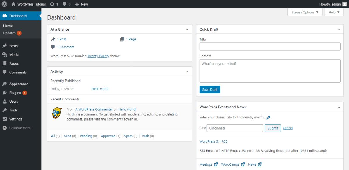 create a website with wordpress