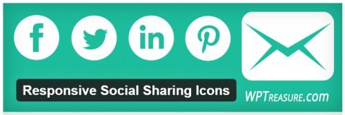 Responsive Social Sharing Icons