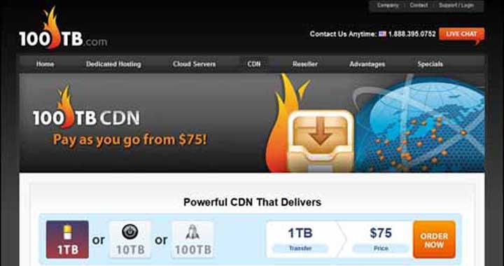 100TB CDN Service