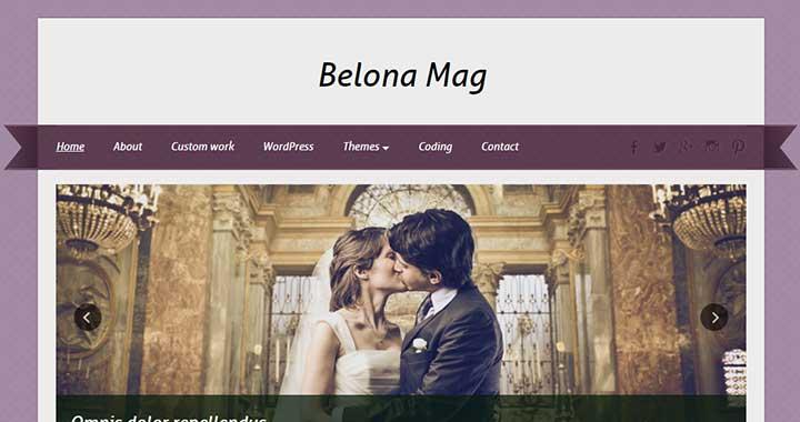 Belona Mag WordPress Wedding Themes