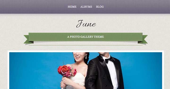 June WordPress Wedding Website