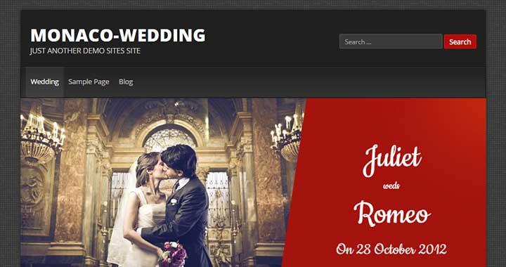 Monaco Alliance wordpress wedding theme free