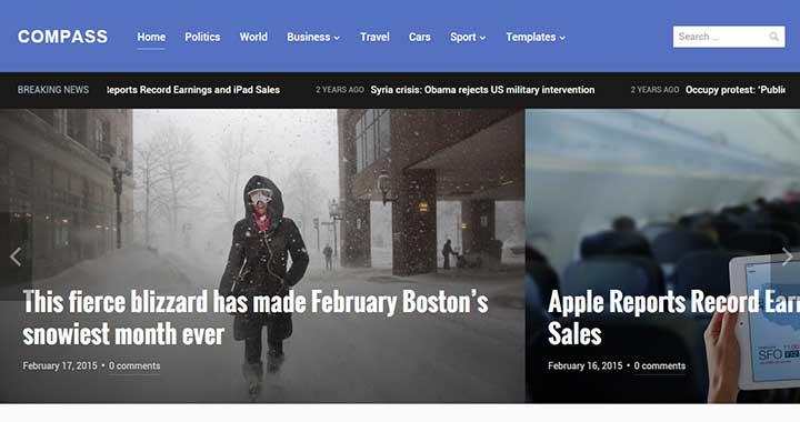 Compass Best WordPress Magazine Theme
