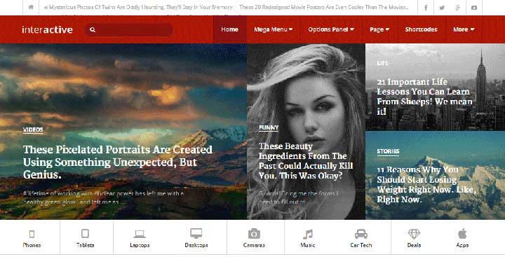 Interactive WordPress Magazine Theme