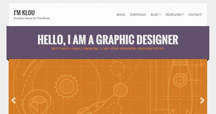 Klou Portfolio Theme WordPress