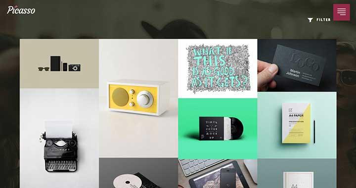 Picasso Free WordPress Portfolio Themes