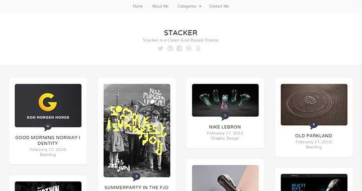 Stacker Portfolio WordPress Theme