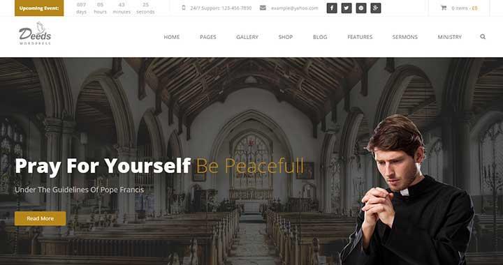 Deeds Spiritual WordPress Theme