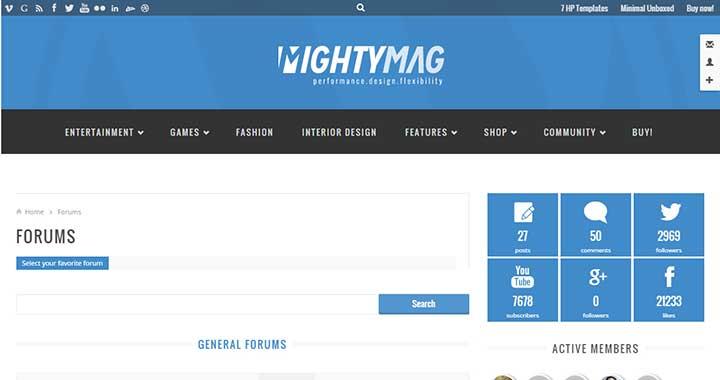 MightyMag WordPress Forums