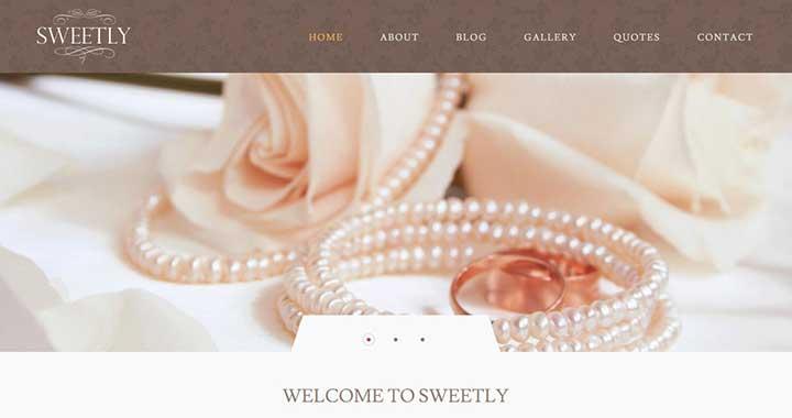 Sweetly WordPress Wedding Website