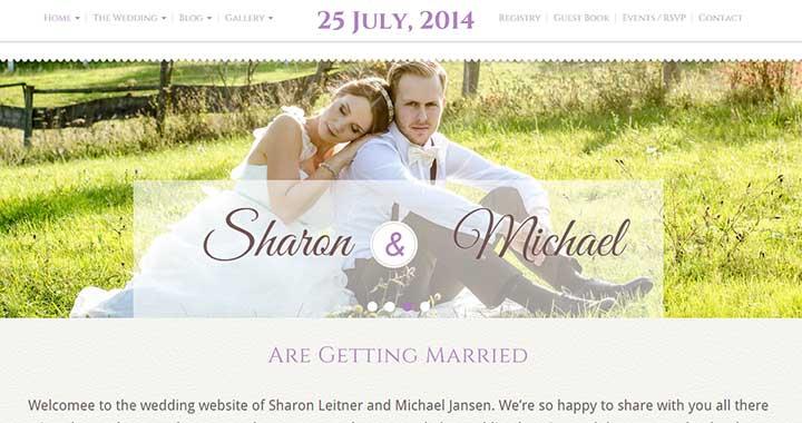 Wedding Bliss WordPress Wedding Templates