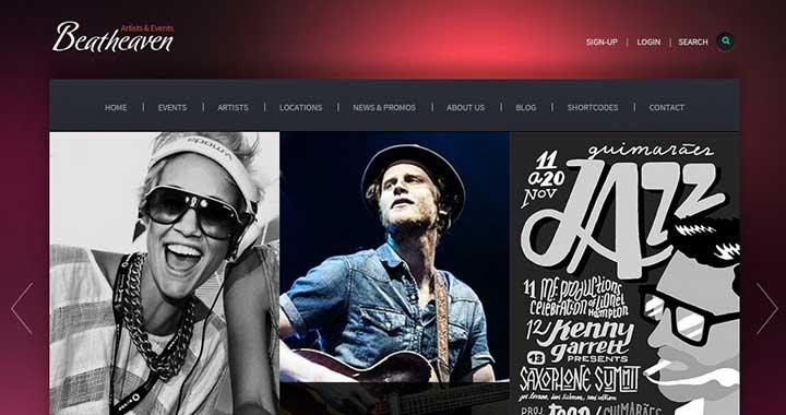 Beat Heaven wordpress music catalog theme