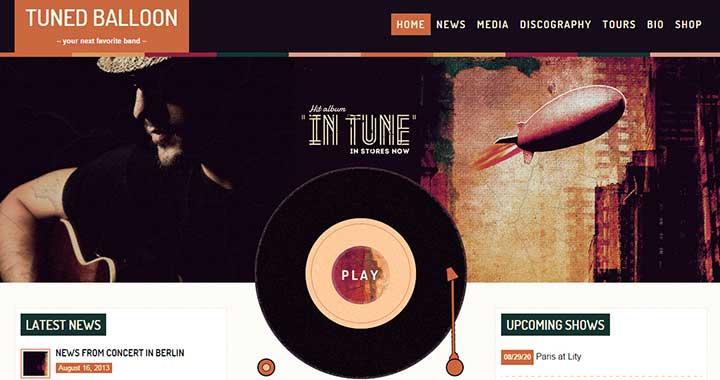 TunedBalloon wordpress audio music themes