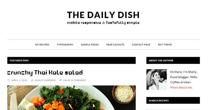Daily Dish SEO optimized WordPress theme