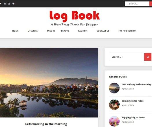 log book Responsive WordPress Theme