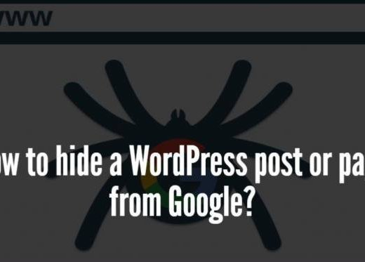 How To Hide Posts And Pages From Search Engines?