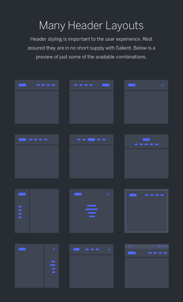 header layouts