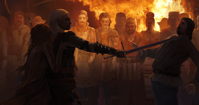 One of End-of-Act choices in The Witcher, my choice always felt right!