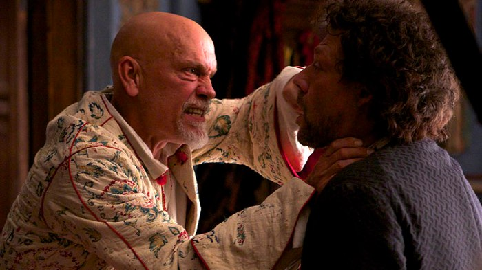 The only 'strong' moment in Malkovich's performance and it lasts about 20 seconds