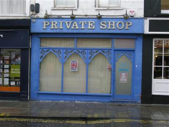 Private Shop UK hides behind its blinds.