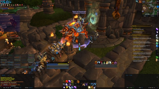 The first night of the Highmaul Raid!