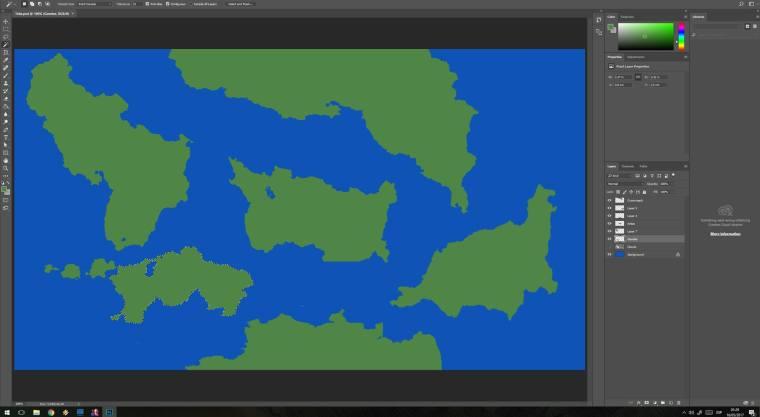 World Map - Photoshop