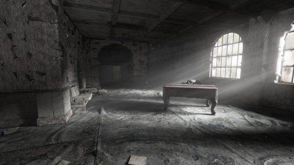 A lonely piano, its notes echo across the empty hallways