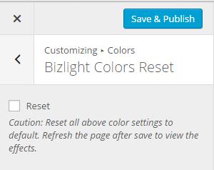 Biz Lite Color Reset