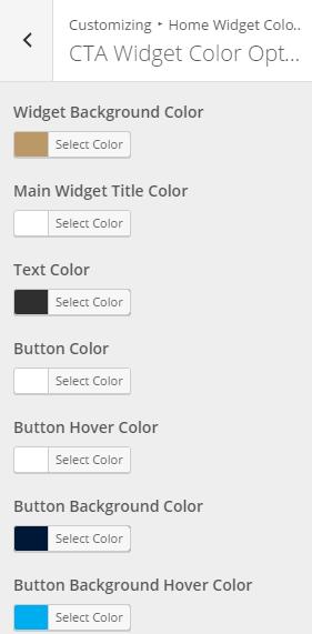 CTA Widget Color Options