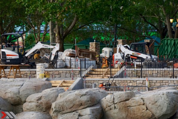 Construction progress at Central Park's new viewing area.