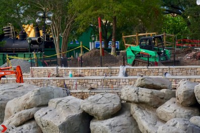 The stone facades for the tiered standing areas look quite nice even in their unfinished form.