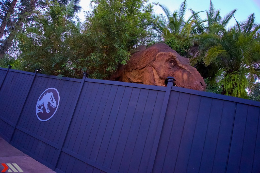 Even the T-Rex Photo-op is behind construction walls.