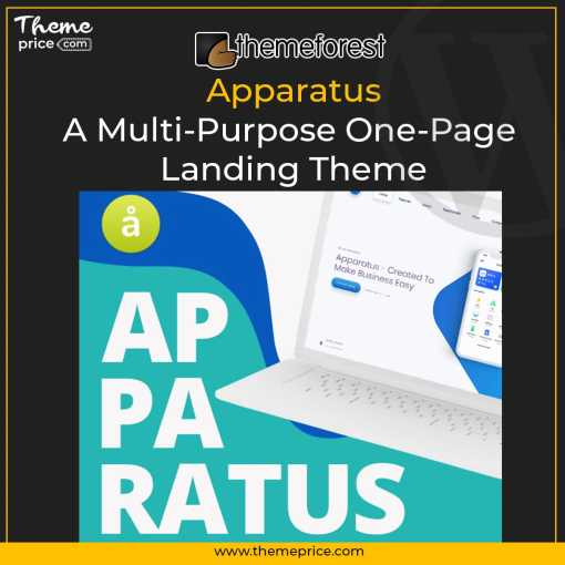 Apparatus | A Multi-Purpose One-Page Landing Theme