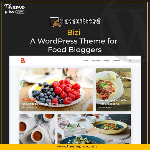 Bizi – A WordPress Theme for Food Bloggers