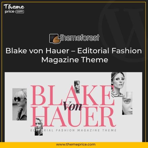 Blake von Hauer – Editorial Fashion Magazine Theme