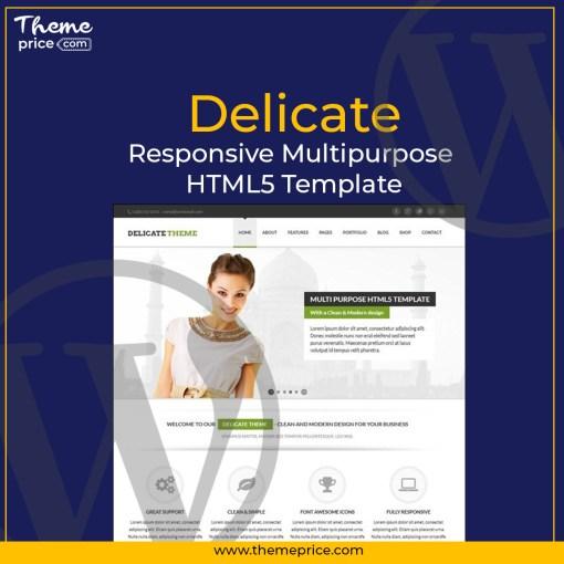 Delicate – Responsive Multipurpose HTML5 Template