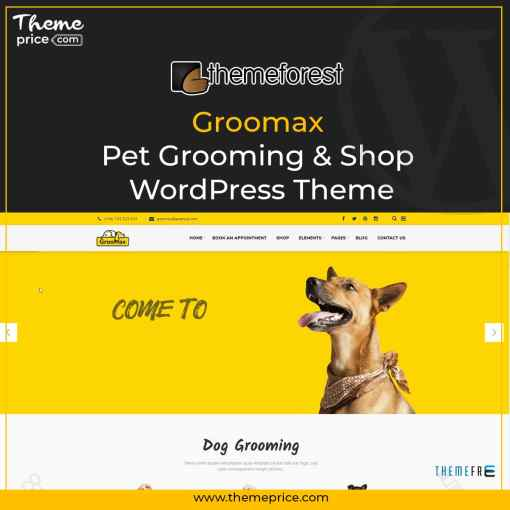 Groomax – Pet Grooming & Shop WordPress Theme