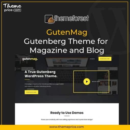 GutenMag – Gutenberg Theme for Magazine and Blog