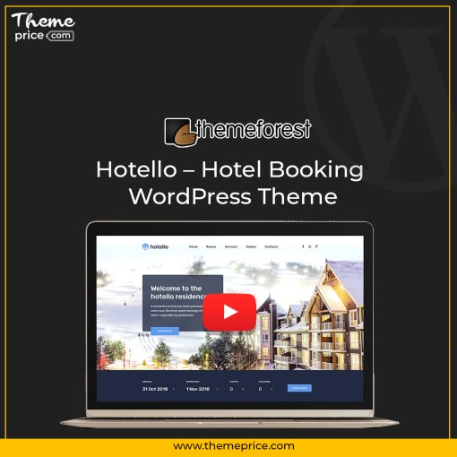 Hotello – Hotel Booking WordPress Theme